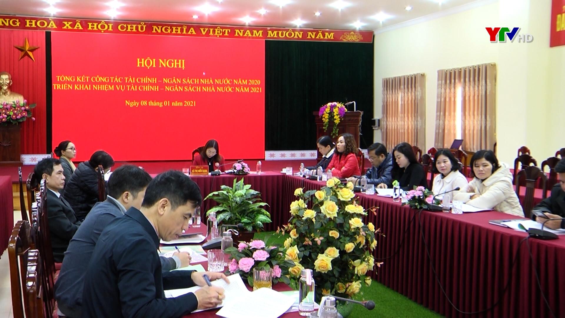 Tỉnh Yên Bái dự Hội nghị trực tuyến toàn quốc đánh giá tình hình thực hiện nhiệm vụ tài chính - ngân sách nhà nước năm 2020