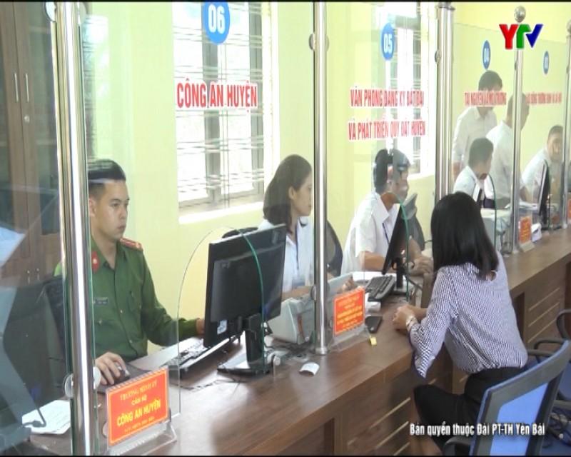 Bộ phận Phục vụ hành chính công huyện Yên Bình nâng cao chất lượng hoạt động
